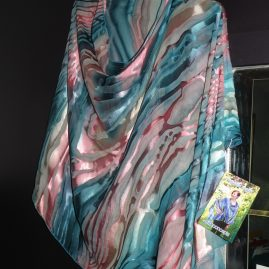 silk clothing and scarves